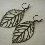 Leaf Earrings - Antique Bro..